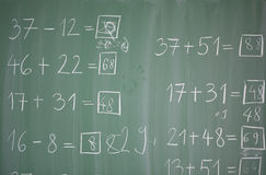 Matematics in primary school Stock Images