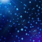 Matematik av bakgrund för vektor för vinstabstrakt begrepp kosmisk Arkivfoton