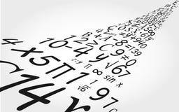 Matematikbakgrund Arkivfoto