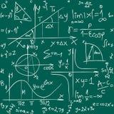 Matematikbakgrundsmodell Arkivfoton