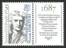 Matematiker och fysiker Isaac Newton arkivfoton
