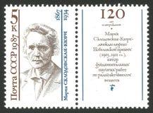 Matematiker och fysiker Mary Curie arkivbilder