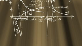 Matematikformler som flyger i strålar vektor illustrationer