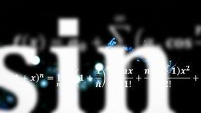 Matematiklikställande som flyger och försvinner i avstånd Royaltyfria Foton