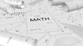 Matematikpapper, matematikprojekt Royaltyfria Bilder