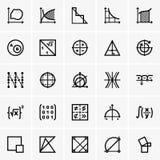 Matematiksymboler stock illustrationer