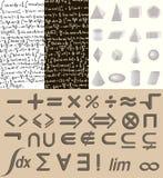 Matematikuppsättning Arkivbilder