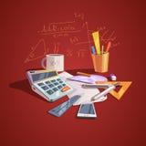 Matematikvetenskapsbegrepp stock illustrationer