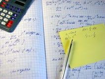 matematisk beräkning Arkivfoto