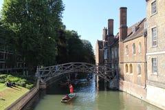 Matematisk bro, Cambridge, UK arkivbild