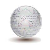 matematisk sphere Arkivbild