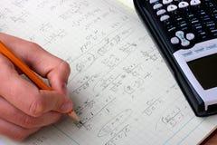 matematiska formler Royaltyfria Bilder