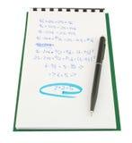 matematiskt provexemplar Royaltyfria Foton