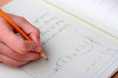 matematiskt schema Arkivbilder