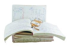matematyczka notatniki Zdjęcia Stock