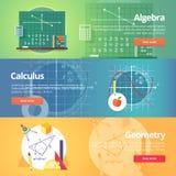 Matematycznie nauka algebra rachunek geomorfologiczny ilustracja wektor