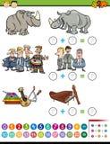 Matematycznie preschool zadanie Zdjęcie Royalty Free