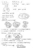 Matematycznie tło Obrazy Stock