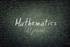 Matematyk formuły fotografia stock