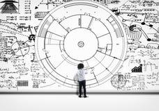 Matematyk formuły rozwiązują obraz stock