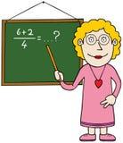 Matematyka żeński nauczyciel ilustracji