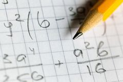 matematyka Fotografia Stock