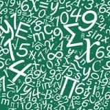 Matematyka bezszwowy wzór, szkolny biurka tło Zdjęcie Stock