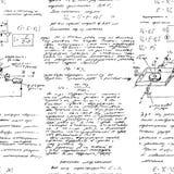Matematyka bezszwowy wzór z handwriting różnorodne operacje Obrazy Royalty Free