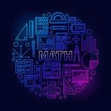 Matematyka round jaskrawy symbol Obraz Royalty Free