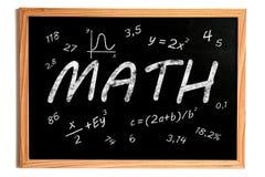 Matematyki Chalkboard Fotografia Royalty Free
