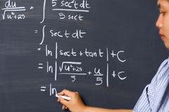 matematyki działanie problemowy studencki obraz royalty free