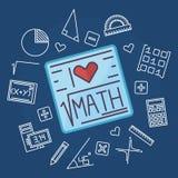 Matematyki edukaci wektoru tło Zdjęcie Royalty Free