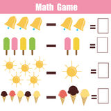 Matematyki edukacyjna gra dla dzieci Obraz Royalty Free