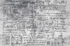 Matematyki formuła na popielatym tle Obrazy Royalty Free
