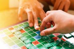 Matematyki gry ucznie zdjęcia royalty free