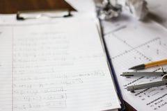 Matematyki i algebry praca domowa Obraz Royalty Free