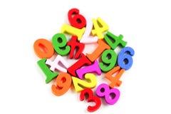 Matematyki Numerowy kolorowy na bia?ym tle: Edukacji nauki matematyki uczenie uczy obrazy stock