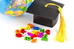 Matematyki Numerowy kolorowy z skalowanie kapeluszem: Edukacji matematyki uczenie zdjęcie royalty free