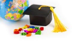Matematyki Numerowy kolorowy z skalowanie kapeluszem: Edukacji matematyki uczenie obrazy stock