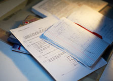 Matematyki praca domowa Fotografia Stock