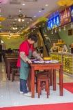 Maten och drycken shoppar av scenisk fläck för den nanjing Konfucius templet Royaltyfria Foton