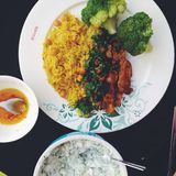 maten på plattan Royaltyfri Fotografi