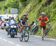 Mateo Trentin на Col du Tourmalet - Тур-де-Франс 2014 Стоковая Фотография