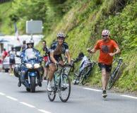 Mateo Trentin on Col du Tourmalet - Tour de France 2014. Col du Tourmalet, France - July 24, 2014: The Italian cyclist Mateo Trentin (Omega Pharma-Quick Step) Stock Photography