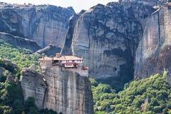 Mateora修道院在希腊 免版税库存图片