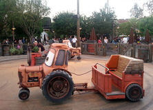 Tow Maters Junkyard Jamboree ride at Disneys Calif Stock Photos