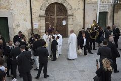 $matera, Ιταλία 16 Σεπτεμβρίου 2017: Αναμονή την πομπή Στοκ εικόνα με δικαίωμα ελεύθερης χρήσης