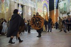 $matera, Ιταλία 16 Σεπτεμβρίου 2017: Θρησκευτικό αφιερωμένο πομπή τ Στοκ φωτογραφία με δικαίωμα ελεύθερης χρήσης