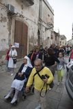 $matera, Ιταλία 16 Σεπτεμβρίου 2017: Θρησκευτικό αφιερωμένο πομπή τ Στοκ Φωτογραφίες
