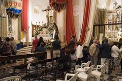 $matera, Ιταλία 16 Σεπτεμβρίου 2017: Θρησκευτικό αφιερωμένο πομπή τ Στοκ εικόνες με δικαίωμα ελεύθερης χρήσης